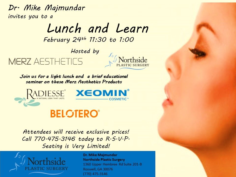 Dr. Mike Majmundar invites you to a lunch and learn hosted by Merz ...