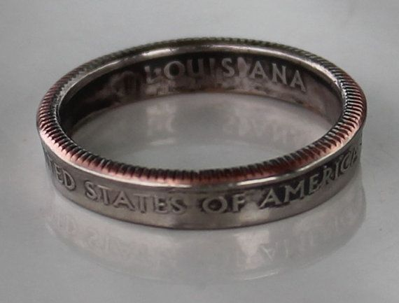 US Quarter ring by CraftsByJoel on Etsy