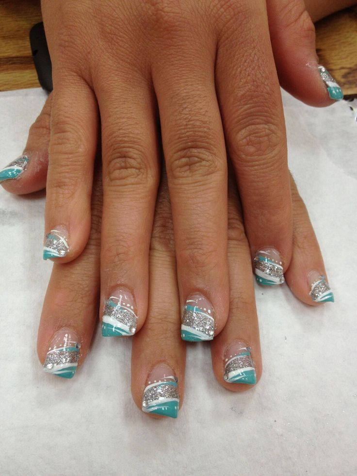 Funky French Tip Nails: a collection of Hair and beauty ideas to try ...