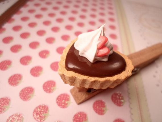 Heart Shaped Chocolate Pudding Tart Ring by Lucifurious on Etsy, $10.00