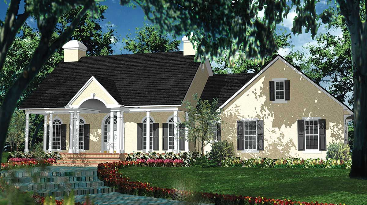 Plan 62023v Southern Elegance In 2021 Colonial House Plans House Plans Colonial House