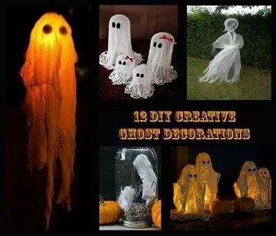 Halloween ghosties! CUTE DIYs Pinterest Diys and Craft