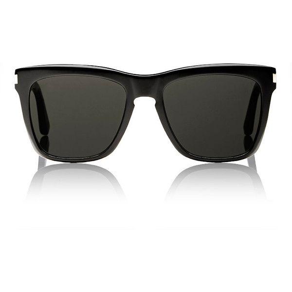 db04518c9 Saint Laurent Men's SL 137 Devon Sunglasses ($405) ❤ liked on Polyvore  featuring men's fashion, men's accessories, men's eyewear, men's sunglasses,  black, ...