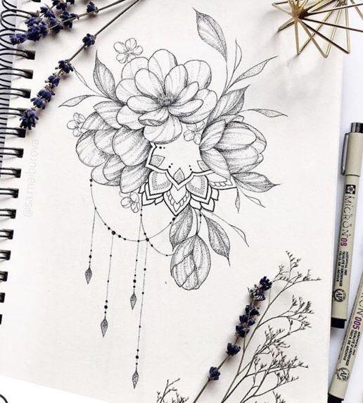 Best 11 101 Charming Floral Tattoo Ideas