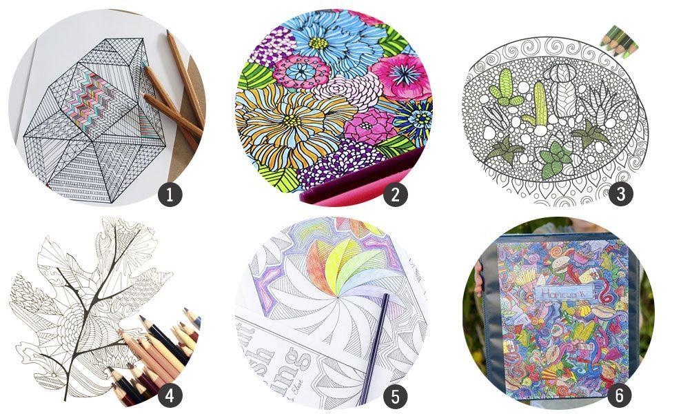 18 láminas de colorear imprimibles para adultos (Cosas Molonas ...