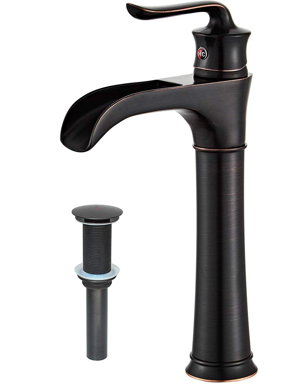 farmhouse waterfall bathroom faucet for