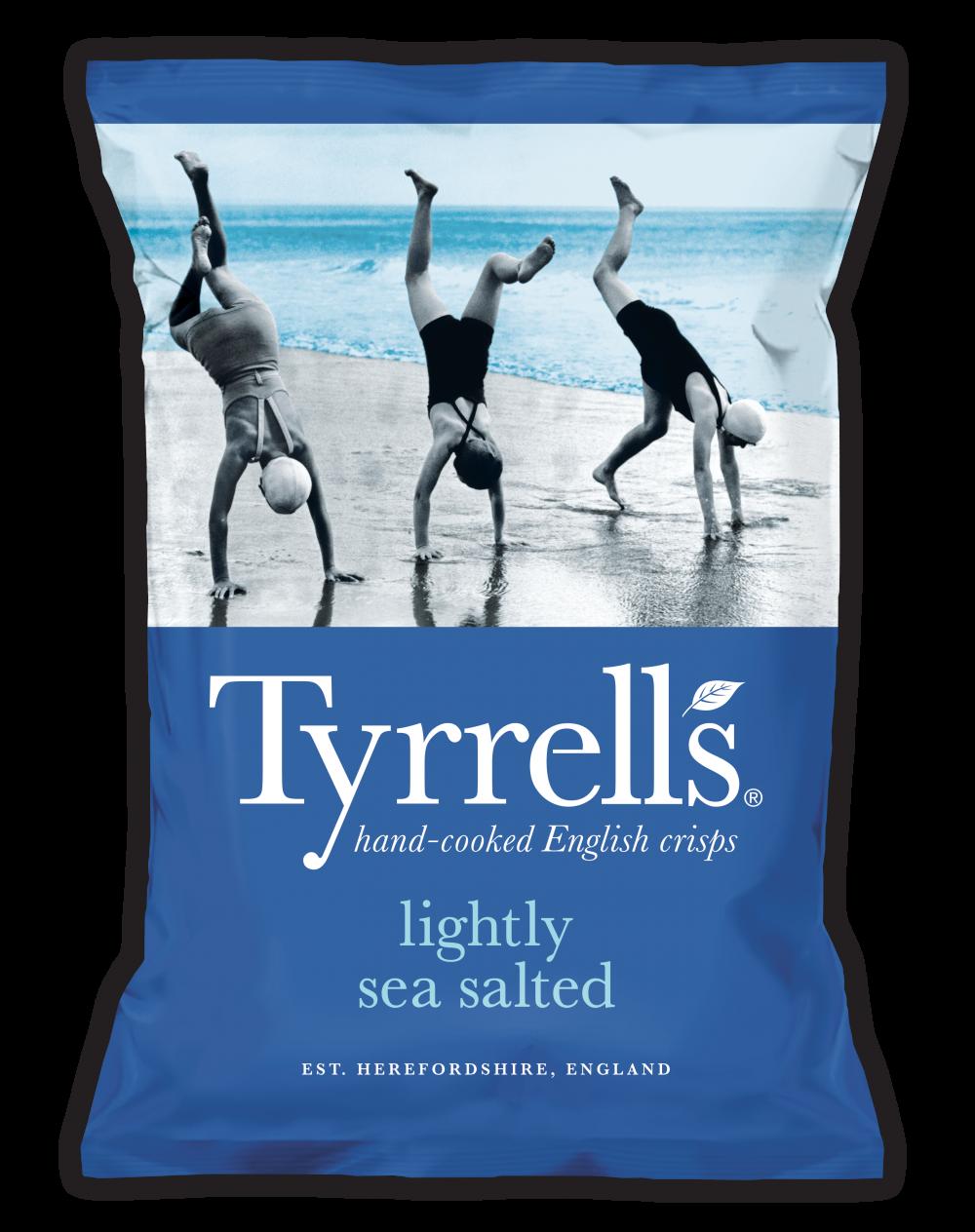 ȋ±å›½å›½æ°'薯片品牌tyrrells的包装创意 ŀ¼å¾—你细品 In 2020 Sea Salt Tyrrells Crisps Sea