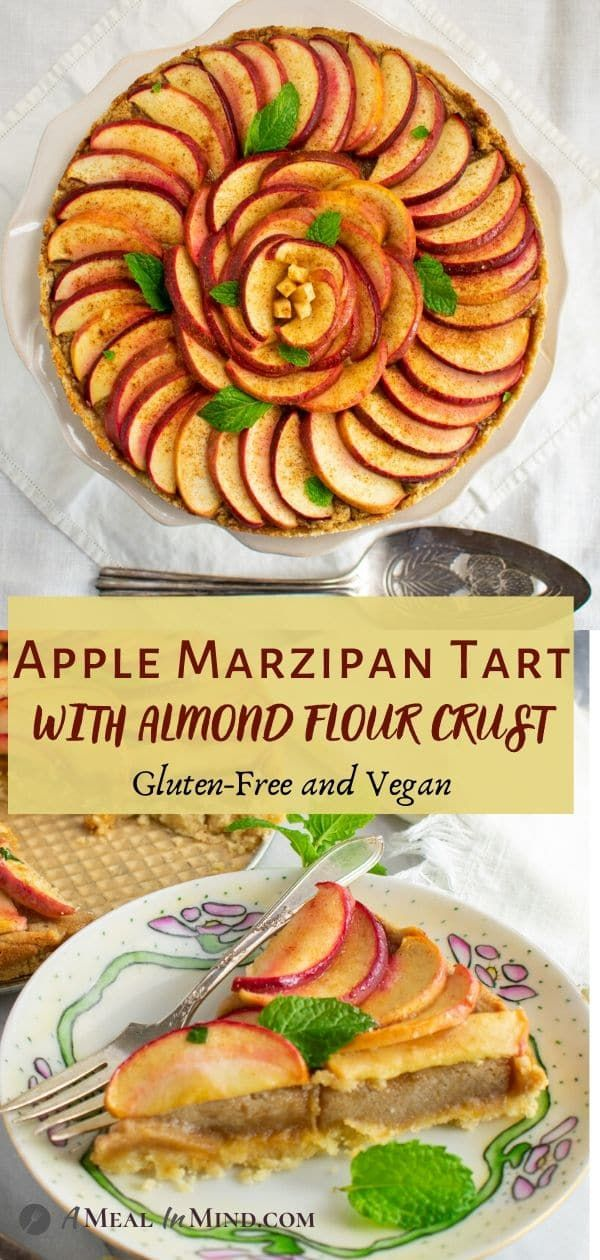 This Apple Marzipan Tart With Almond Crust Is A Delicious And Beautiful Way T In 2020 Food Processor Recipes Delicious Gluten Free Recipes Gluten Free Recipes For Kids
