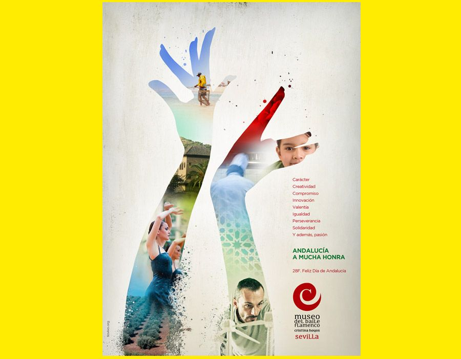 Feliz Día De Andalucía Preciosa Publicidad Del Museo Del Baile Flamenco Cristina Hoyos Diseñada Por La Agencia De Publicidad Sevilla Tiovivo Comunicaci