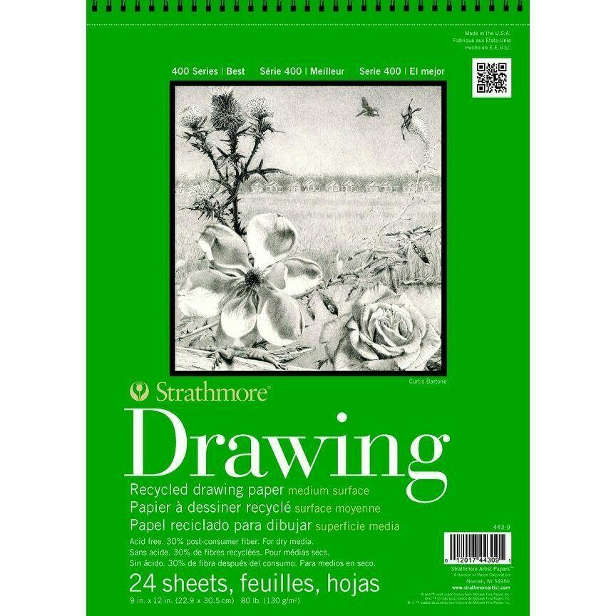 Art Drawing Paper Pad 11x14 Notebook 24 Sheet 80 Lb Sketch