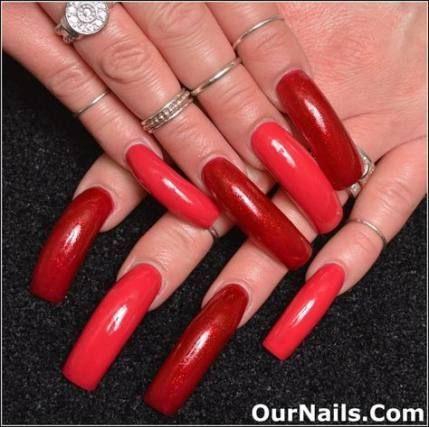 47 ideas nails acrylic red valentines day for 2019  long