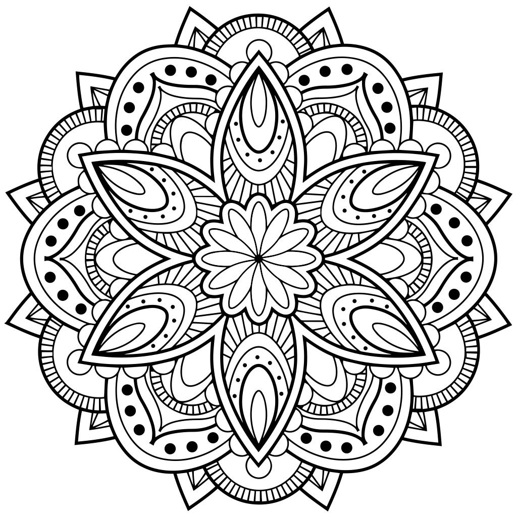 mandala coloring pages for adults for android ios and windows