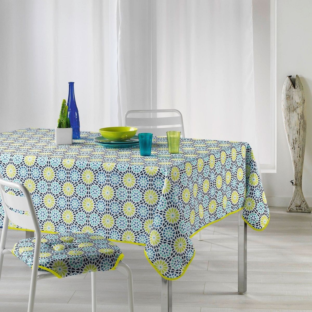 Nappe Rectangulaire 150 X 240 Cm Kaleida Anis Taille 150x240 Cm Nappe Nappe Ronde