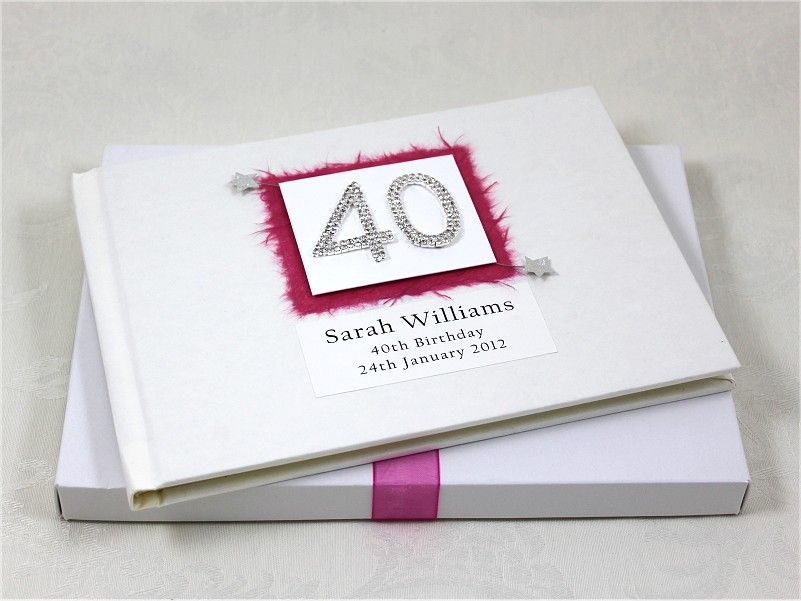 40th birthday guest book 2999 beautiful personalised 40th 40th birthday guest book 2999 beautiful personalised 40th birthday guest book with a stunning filmwisefo Gallery