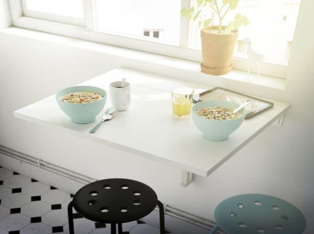 Toutes nos astuces d co pour am nager une petite cuisine for Tablette cuisine ikea