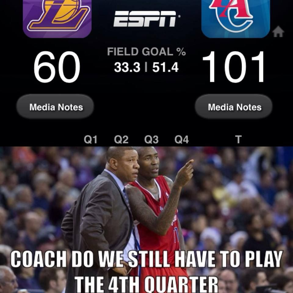 Funny Meme Nba : Clippers crushed the lakers http weheartnyknicks