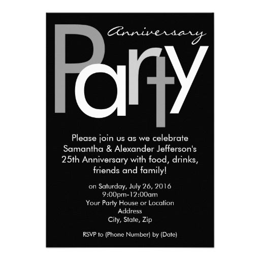 Chunky Black / White Anniversary Party Invitation This site is will advise you where to buyHow to          Chunky Black / White Anniversary Party Invitation Online Secure Check out Quick and Easy...