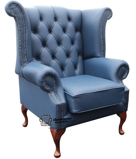 Chesterfield Queen Anne High Back Wing Chair Uk Manufactured