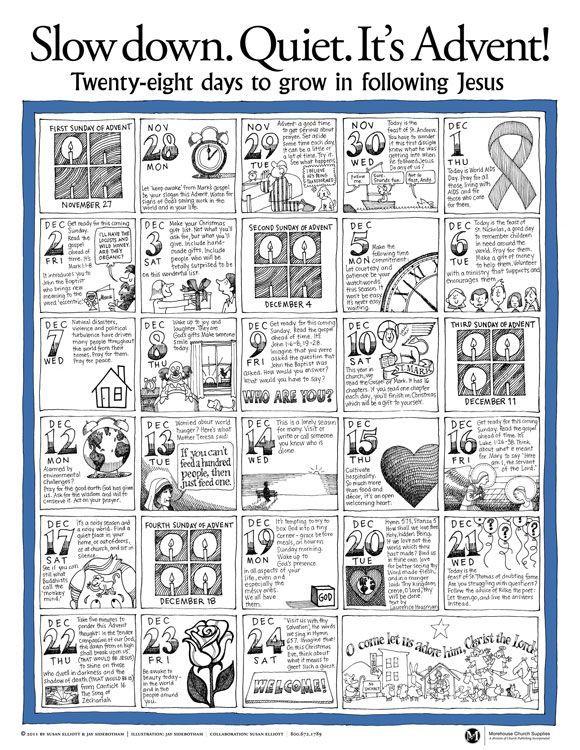 Printable Catholic Advent Calendar Advent Calendar Activities