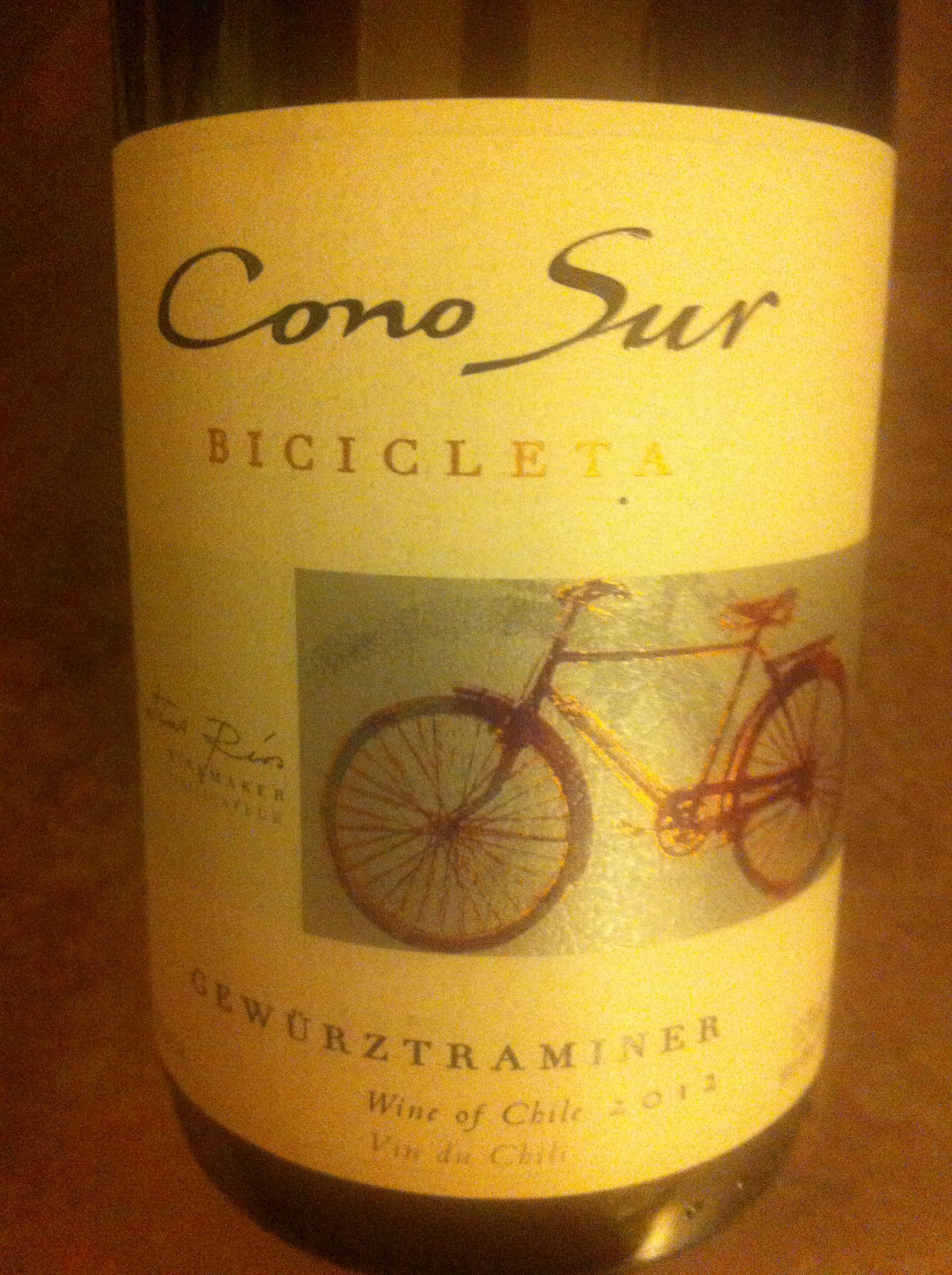 I like Gewürztraminer, this one wasn't my favorite but I also had it after reds: cono sur gewurztraminer, chile