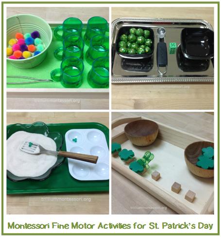 St patrick 39 s day fine motor activities motor activities for Montessori fine motor skills
