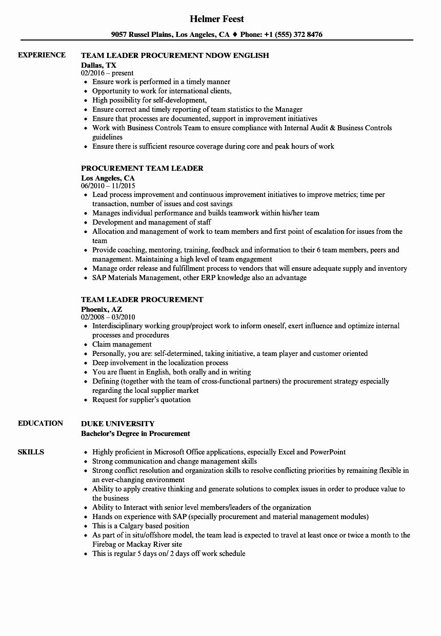 27 Team Leader Resume Example In 2020 Resume Examples Good