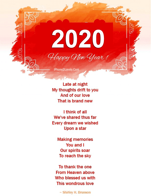 30 Romantic New Year 2020 Love Poems for Him / Boyfriend ...