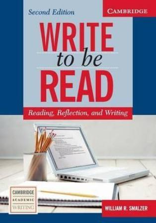 Write To Be Read Complete Summary Busines English Bb Ba %ca%bawrite Read%ca%ba I A Revision Of Successful Academic Writing Instruction Paraphrasing Activitie Eap