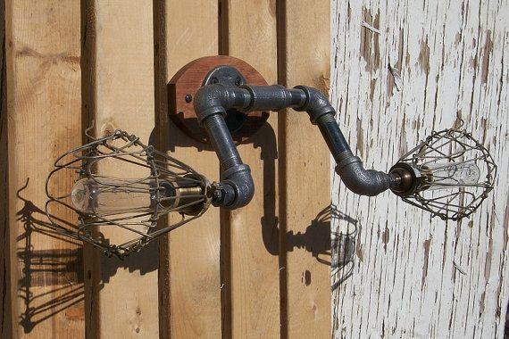 Industrial Wall Mounted Vanity Light By Splinterwerx On Etsy 145 00 Wall Mounted Vanity