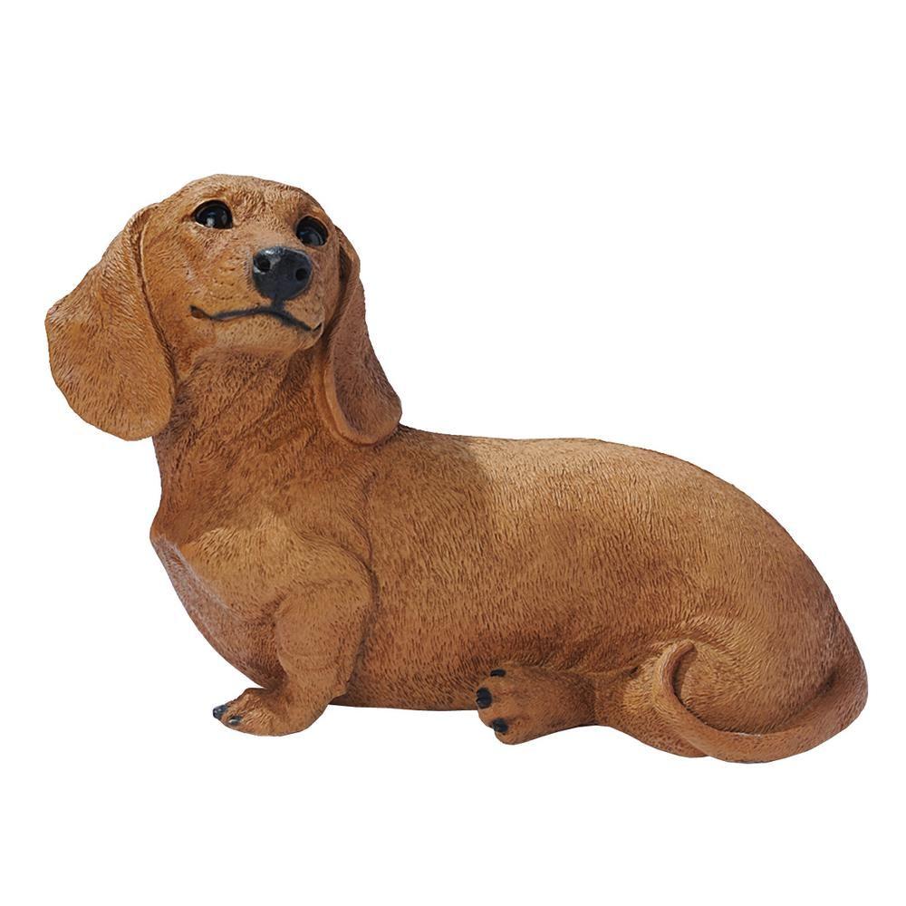 Design Toscano 7 5 In H Brown Dachshund Puppy Dog Statue In 2020