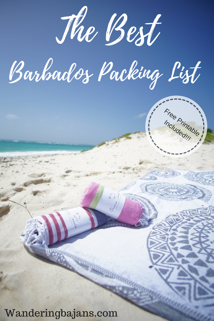 The top 20 items you must have for your trip to barbados. | packing list | Barbados Packing list | Barbados | packing list for Barbados | What to wear in Barbados | Caribbean