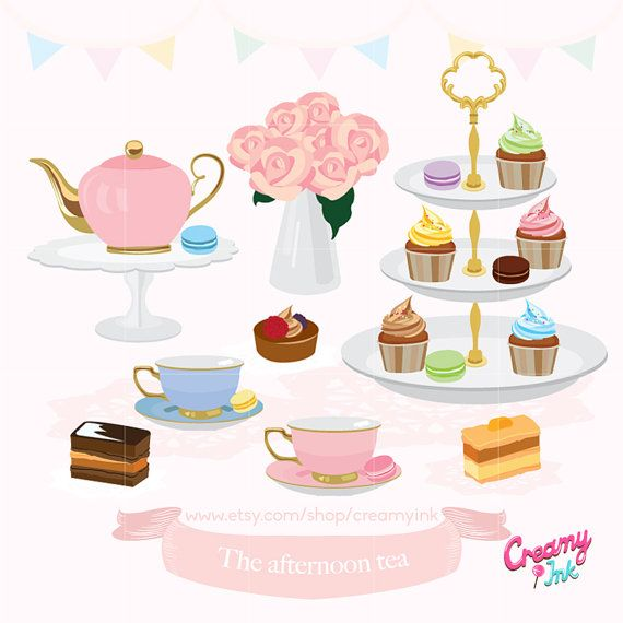 afternoon tea party digital