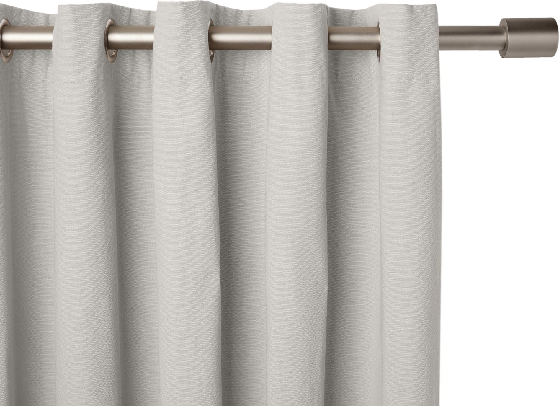 Made x lined cotton eyelet pair of curtains light grey x