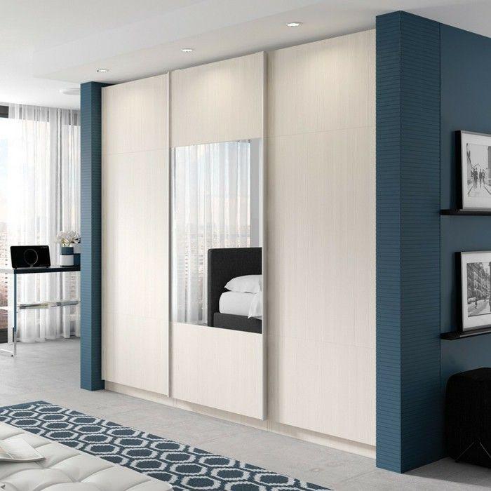 Cheap Bedroom Design Ideas Sliding Door Wardrobes: Wardrobe-design-sliding-doors-white-mirror.jpg (700×700