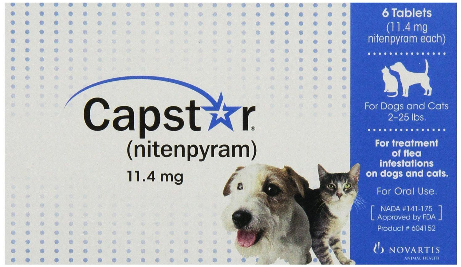 Capstar Flea Tablets for Dogs and Cats, 6