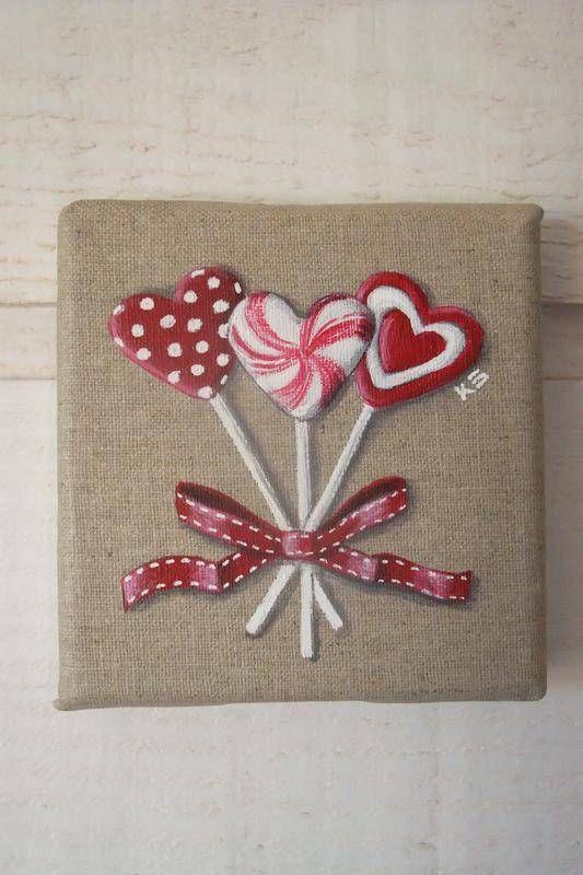 tableau peinture sucette coeur st valentin tableaux peintures kb cr ations fait maison. Black Bedroom Furniture Sets. Home Design Ideas