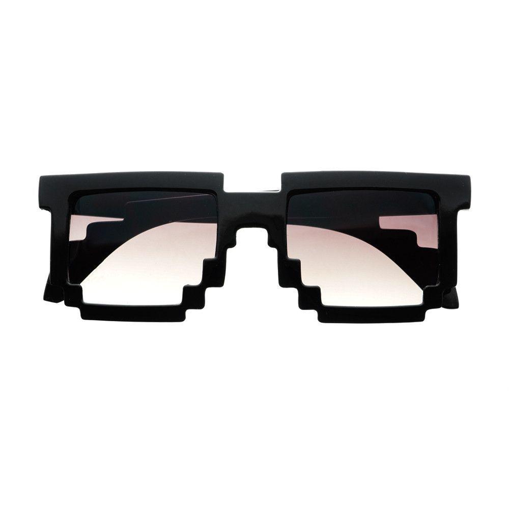 a246b1f6a0b Pixelated 8 Bit Gamer Geek Sunglasses in Black P093