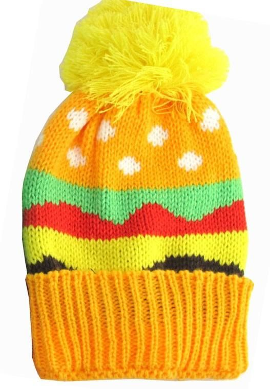 Hamburger Kid s Winter Hat  34d2d5b3bb4e