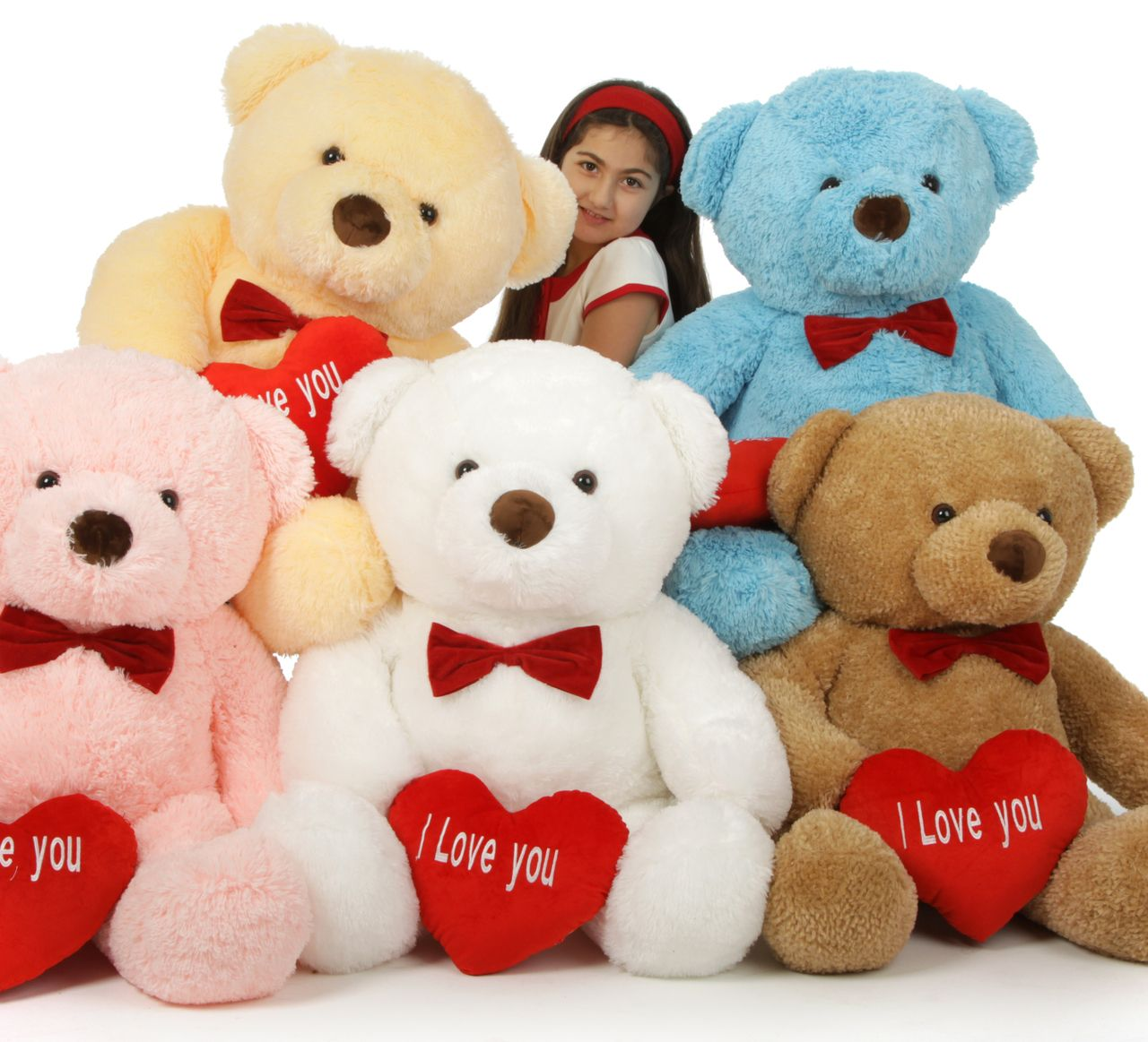 Giant Teddy   Valentineu0027s Day 38in Chubs Teddy Bears With I Love You Heart,  In