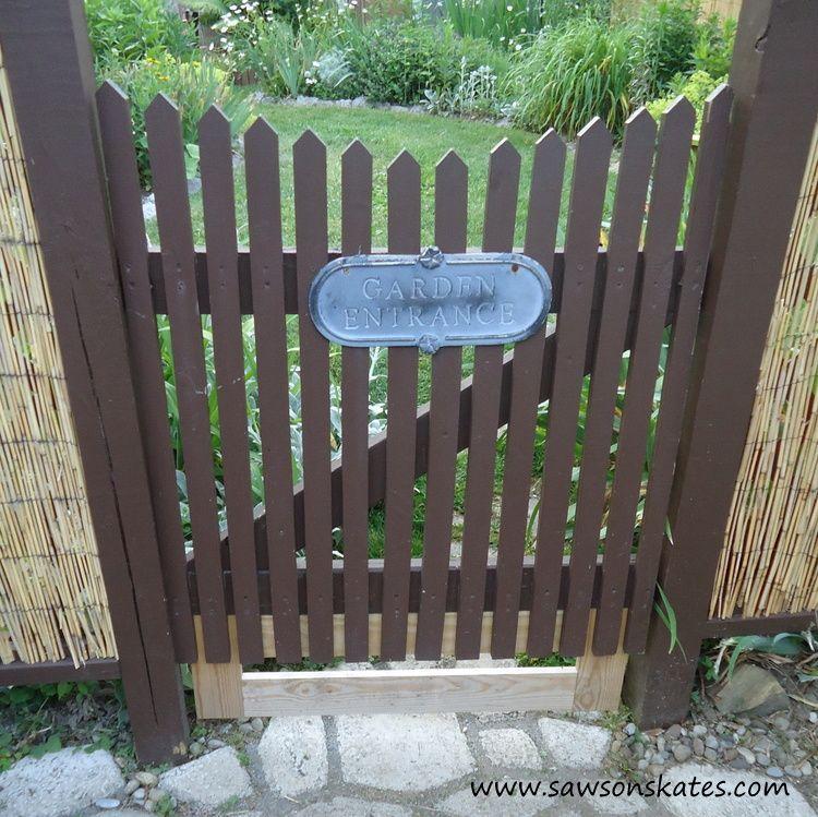 DIY Rustic Garden Gate in 2020 | Diy gate, Garden gate ...