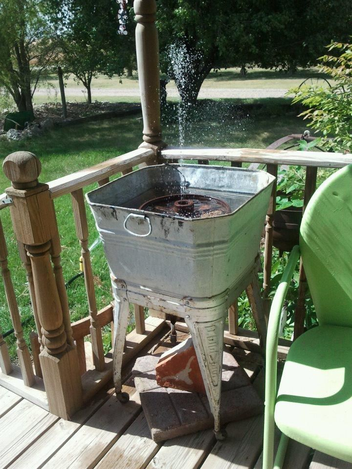 How To Make An Outdoor Fountain.How To Make A Water Fountain Without Electricity Water