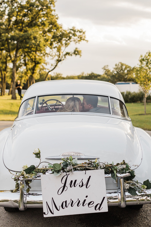 Classy Wedding Send Off Car Sign Wedding Send Off Vintage Car Wedding Classy Wedding