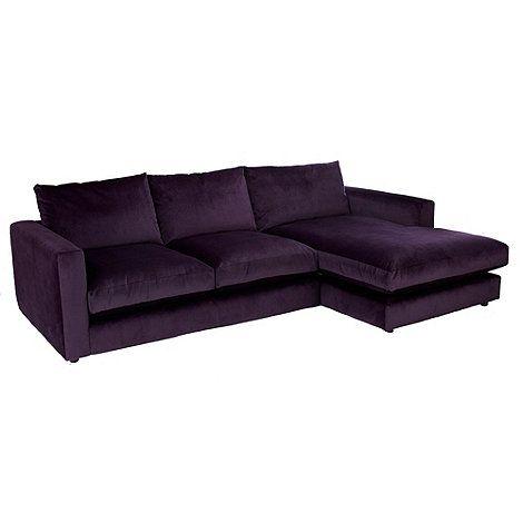 Debenhams Slouchy Right Hand Facing Chaise Corner Sofa