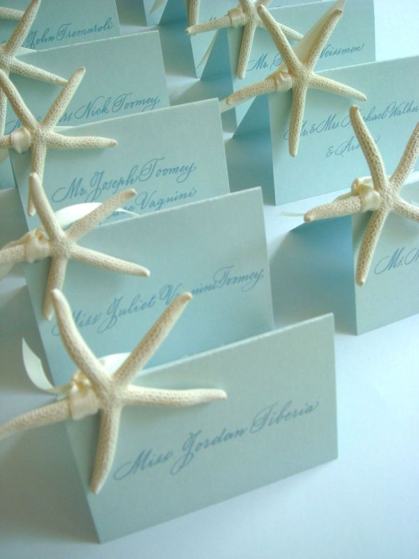 When It Comes To Beach Wedding Escort Cards Id Advise Be Creative