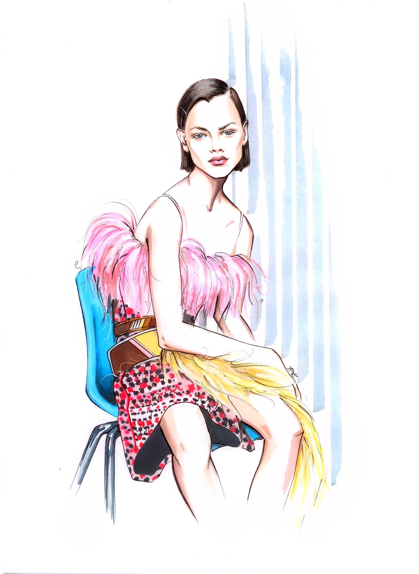 Pin on Fashion Illustration by @katerina_pashegor