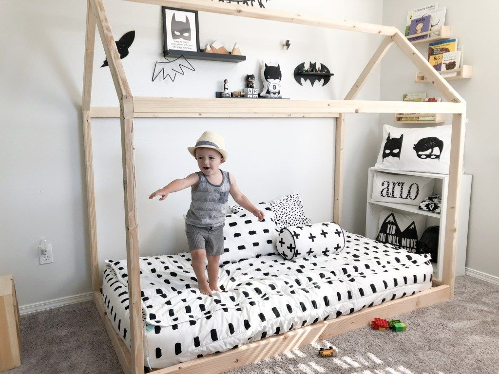 Diy Montessori Floor House Bed Arlo S Monochrome Toddler Boy