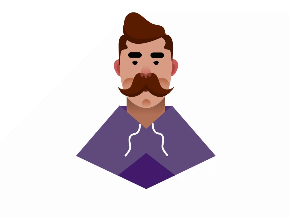 moustache human man creative design behance vector artwork