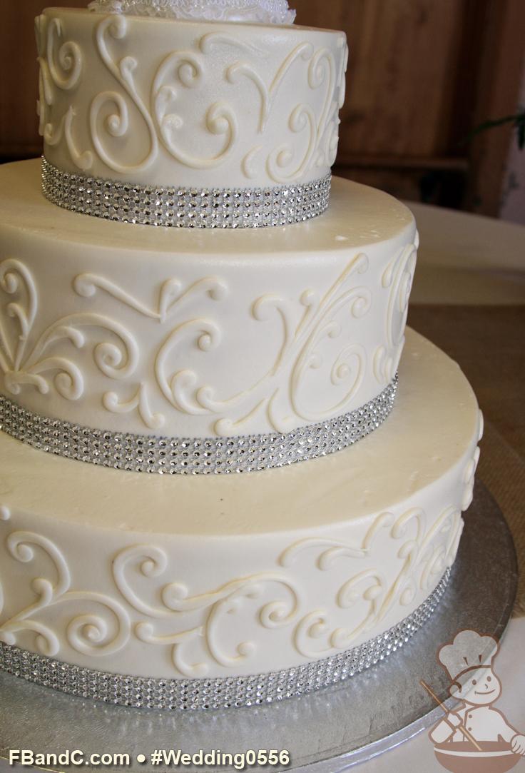 Design W 0556 | Butter Cream Wedding Cake | 14\