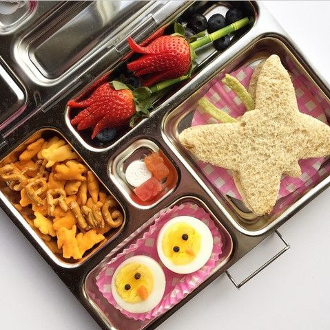 It's the First Day of Spring. This festive lunch in bento box is made by @Stars_Kitchen. www.PlanetBox.com