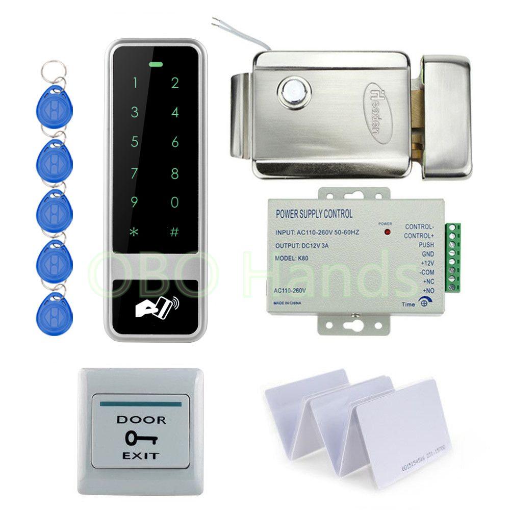 Standalone 125khz Rfid Keypad Access Control Door Em Locks Number Digital Lock System Full Diy Kit Set For Glass Wooden Do Access Control Digital Lock Diy Kits